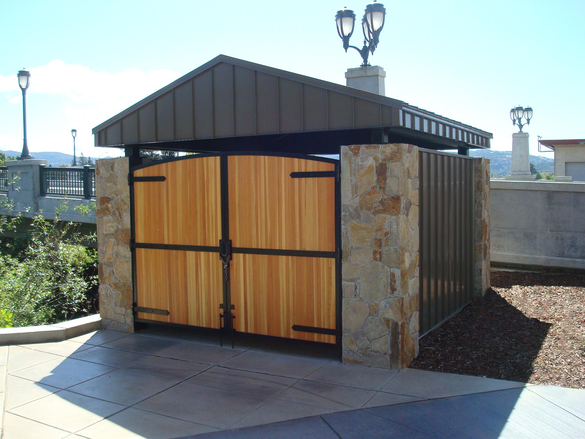 Trash Enclosure 2 Gsm Landscape Architects Inc